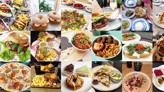 Bilder på vegansk mat i Stockholm.