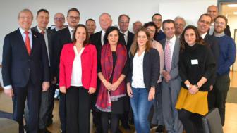 Die Teilnehmenden an der Pressekonferenz der IHK Rhein-Neckar in Mannheim. Foto: Franz Motzko