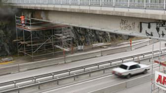 Arkivbild: Gång- och cykelbro vid Talltorp. Bilden är tagen i ett annat sammanhang.