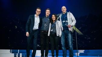Geir Pedersen, Cecilie Martinussen og Peter Johansson fra Löfbergs mottok priser fra Nordic Choice Hotels.