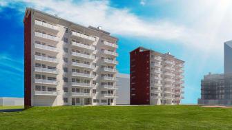 HSB och Peab samarbetar för 600 nya bostäder i Umeå