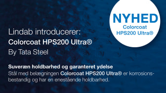 Lindab introducerer Colorcoat HPS200 Ultra®