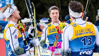 Från förra årets upplaga av Tour de Ski när herrarna just nått toppen av Alpe Cermis.