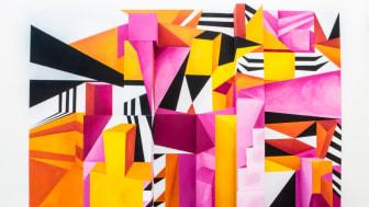 Färg, illusion och komposition av Emma Brålander från Ung Svensk Form 2018 (foto: Erika Kindblad)