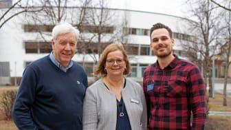 Från vänster i bild: Michael Persson, Arbetsförmedlingen, Elisabet Lewis. Lantmäteriet och Simon Skytt Dempwolf, Högskolan i Gävle.
