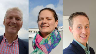f.v. Styreleder Jan Ole Mellby, nestleder til styret Anne Margrethe Solheim Stormo og nytt styremedlem fra område midt, Vegard Nils Smenes.