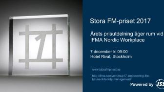 Prisutdelning - Stora FM-priset 2017