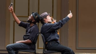 Bach in the Street med Maele Sabuni och Semmy Stahlhammer. Foto Peter Bothén