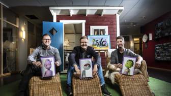 Erik Kylén, Linus Lundberg och Andréas Renberg är entreprenörerna bakom Trilo Interactive.