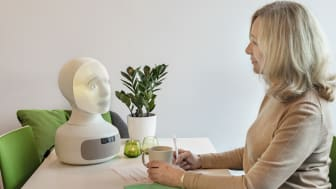 Tengai - the unbiased interview robot performing an interview