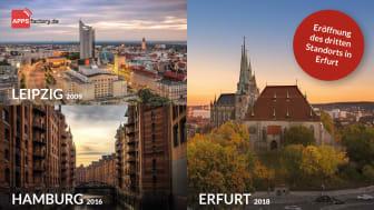 APPSfactory expandiert weiter und eröffnet dritten deutschen Standort in Erfurt