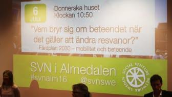 Gröna Bilister arrangerade tre seminarier i Almedalen.