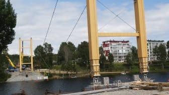 Spektakulärt bromontage i Skellefteå