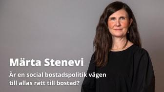 Sveriges bostadspolitiska tungviktare diskuterar social bostadspolitik på Mänskliga Rättighetsdagarna 19 april!
