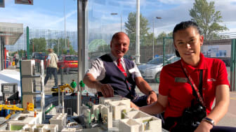 Virgin Trains team use their LEGO® skills to build two new rooms for model hospital