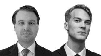 Kristoffer Sandberg (till vänster) och Nils Eriksson (till höger)
