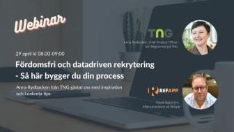 TNG föreläser om fördomsfri och datadriven rekrytering hos Refapp