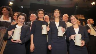 Nockherberg 2017 Sahra Wagenknecht mit Doubles