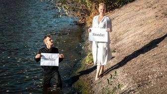 Henning Gillberg tillsammans med Alexandra Davidsson från föreningen Medveten Konsumtion.  Foto: Boreal Films