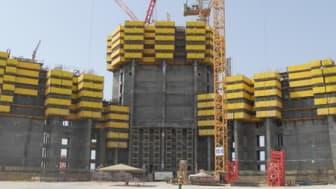 KONE påbörjar installationsarbetet i världens högsta byggnad
