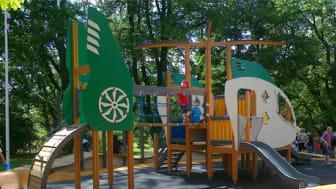 Tyréns har ritat lekplats med flygtema