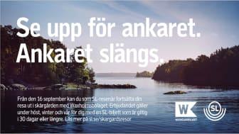 Åk med SL-kort i Waxholmsbolagets trafik