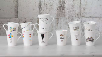 Heartwarming motifs, cute sayings: the Hutschenreuth My Mug Collection offers twelve different bone china cups that are perfect for starting the day.