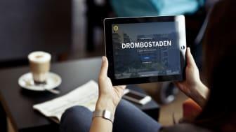 HSB Göteborg visar var stolen ska stå– ny app ger 3D bild av framtida bostadsområdet.