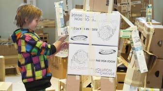 Barn skapar arkitekturhistoria med 600 kvadratmeter stor skräpstad