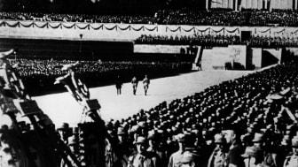 Bild ur filmen: Viljans triumf av Leni Riefenstahl, Tyskland 1934. Foto: Everett Collection/TT