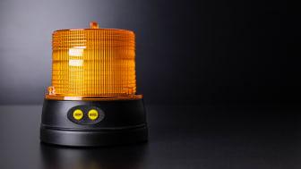 Ett smart varningsljus – tänds automatiskt på natten/ släcks på dagen