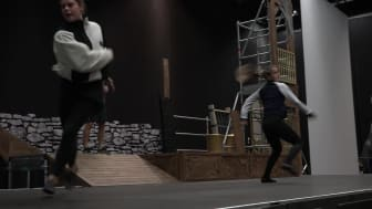 Repetitionerna på NEP - Studios i Stockholm (Robin Hood - The Musical)