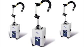 Utsugs- och filteraggregat för det skadliga slipdammet som uppstår vid fotvård