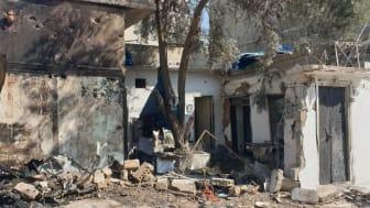 Förstört hus i staden Qamishli, Syrien, efter Turkiets attack den 11 oktober.