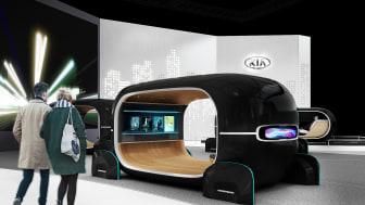 """KIA præsenter bl.a. 3 specialfremstillede koncepter på sin CES-stand, hvor man kan opleve potentialet med """"Real-time Emotion Adaptive Driving"""" (R.E.A.D.)"""