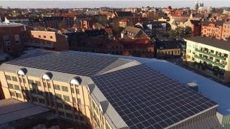 Lunds största solcellsanläggning på p-hus invigdes idag