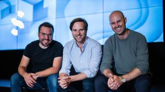 Spacemakers grundare från vänster Carl Christiansen, Håvard Haukeland och Anders Kvale