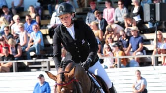 Stephanie Holmén rider de internationella klasserna i Falsterbo Fotograf: Falsterbo Horse Show