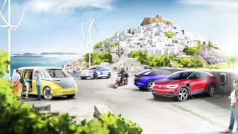 Volkswagen-koncernen och Grekland i gemensamt projekt för klimatneutral mobilitet på grekisk ö