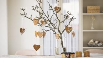 Gille Stora Hjärtan för dekoration och att hänga i kvistar