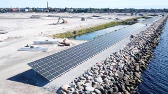 Solcellspark installeras i nya delen av Trelleborgs Hamn