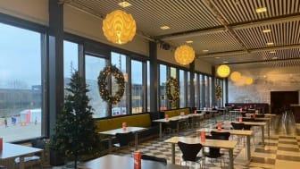 Frederikke spiseri brukes nå som lesesal før ordinær åpningstid. De store lokalene gjør det mulig å holde trygg avstand.