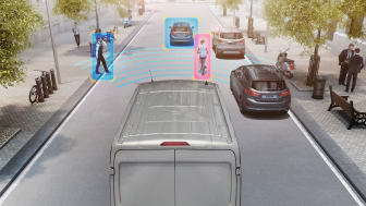 Pre-collision assist i Transit
