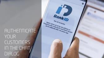 Vergic har lagt in stöd för Mobilt BankID i sin chatt tjänst