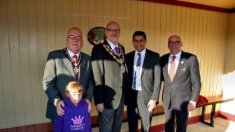World famous locomotive opens new East Lancashire Railway station