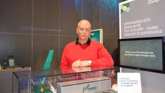Lasse Bengtsson of SSAB with the EcoUpgraded project, which is part of the company's focus on sustainable solutions.