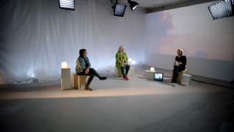 Ann-Marie Wennberg, Sjukhusdirektör, Sahlgrenska Universitetssjukhuset, Eva Wiberg, Rektor Göteborgs universitet samt Helena Stålnert i inspelning för GoCo Health Innovation City