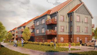 HFAB bygger 44 nya lägenheter i Harplinge.