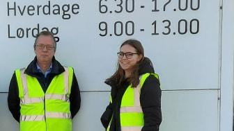 Sofie Terp Christensen har indstillet Bygma og sin praktikvejleder Martin Hansen, der er logistikchef for Bygmas Region Midt og Region Nord til prisen.