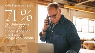 Unternehmer fürchten 2021 höhere Abgaben und Steuern infolge der Corona Schuldenbelastung